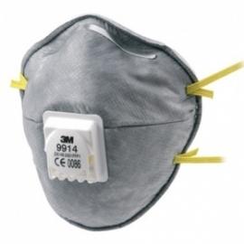 Stofmasker 3M 9914 tegen geur FFP1 ventiel vpe=10