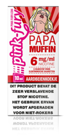 Pink Fury Papa Muffin (Aardbeien Muffin) 60%VG 40% PG 10ml