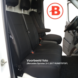 Passform Autositzbezüge VW Crafter für Einzelsitz und Doppelbank vorne (2+1) aus KUNSTLEDER  Bj 2006-heute