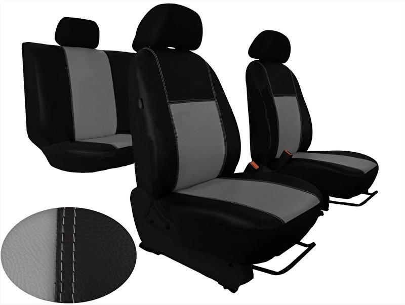 2+1 Sitzbezüge Kunstleder Grau für Iveco Hyundai Kia Mazda Mitsubishi