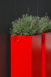 Aluminium plantenbak 500x500x1000
