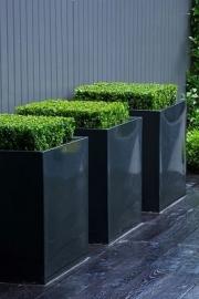 Hoogglans polyester plantenbak 800x800x800