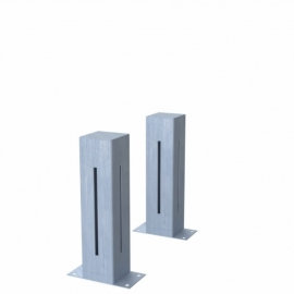 Verzinkt stalen lichtkolom Koll1 100x100x400 mm