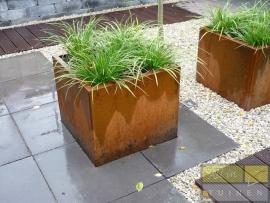Cortenstaal plantenbak 800x800x800