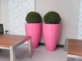 Hoogglans polyester plantenbak Ø 800x1000