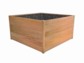 Hardhouten plantenbak 1400x1400x740 Mururé 20mm