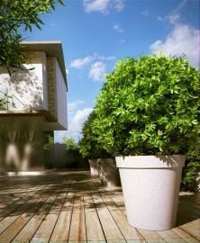 Polymeerbeton plantenpot Ø 1500x1200 met bovenrand