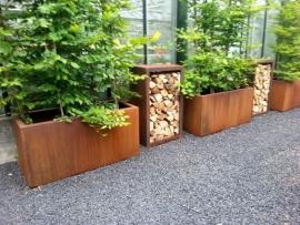 Cortenstaal plantenbak 1200x500x600