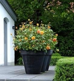 Polymeerbeton plantenpot Ø 1200x900 met bovenrand