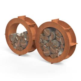Houtopslag Form 800x250 mm Cortenstaal