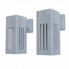 Verzinkt stalen wandverlichting Koll2 100x100x250 mm