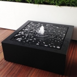 Watertafel aluminium 1000x1000x400 mm met LED