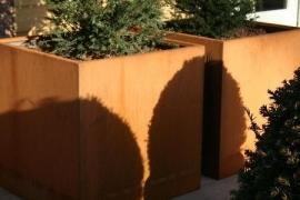 Cortenstaal plantenbak 700x700x700