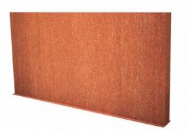 Cortenstaal wand 4000x150x1350
