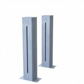 Verzinkt stalen lichtkolom Koll1 100x100x600 mm