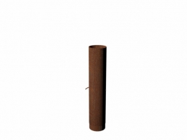 Rookgasafvoer + damper 154x750 Cortenstaal