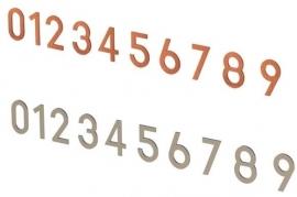 Cortenstalen huisnummers 0 - 9