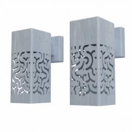 Verzinkt stalen wandverlichting Koll3 100x100x250 mm
