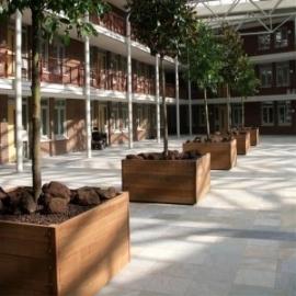 Hardhouten plantenbak 1200x1200x740 Mururé 20mm