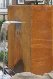 Vijvermuur Cortenstaal 2000x250x1200 mm  (vrijstaand)