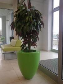 Hoogglans polyester plantenbak Ø 720x840
