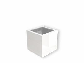 Hoogglans polyester plantenbak 400x400x400
