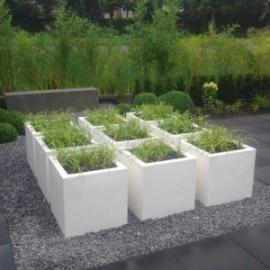 Polyester plantenbak 500 x 500 x 500 mm