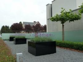 Hoogglans polyester plantenbak 1000x1000x800