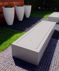Watertafel aluminium 3000x1000x400 mm 3 fonteinen & LED