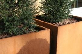 Cortenstaal plantenbak 1000x1000x800