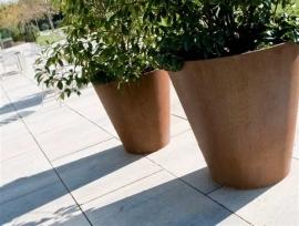Cortenstaal plantenbak Ø 1000x800 taps
