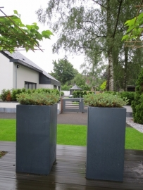 Polyester plantenbak 400 x 400 x 1000 mm