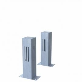 Verzinkt stalen lichtkolom Koll2 100x100x400 mm
