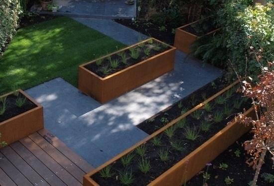 Cortenstaal plantenbak 2000x500x600