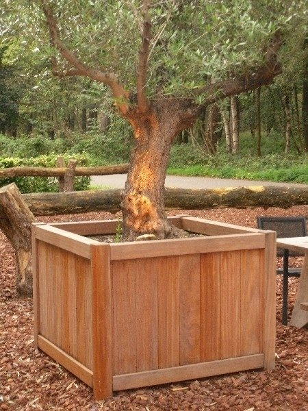 Hardhouten plantenbak 1000x1000x950 Bangkirai VLO 20mm