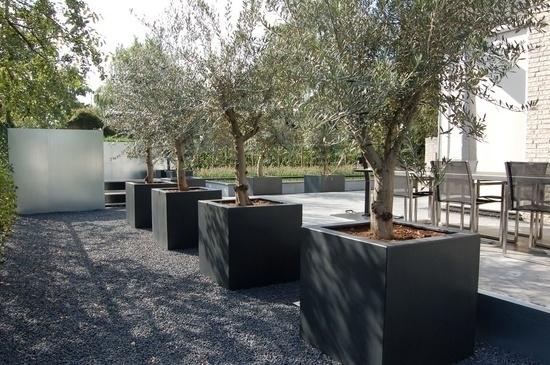 Polyester plantenbak 1200x1200x1000