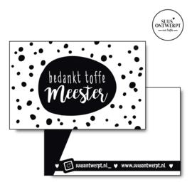 Minikaartje Toffe Meester