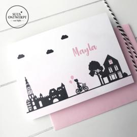 Geboortekaartje skyline