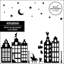 Sinterklaas Raamsticker - HERBRUIKBAAR