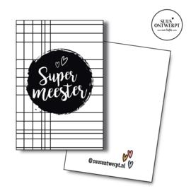 Minikaartje Super meester