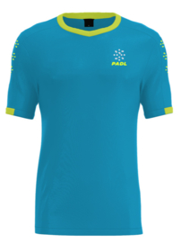 Padl Extreme t-shirt ocean blue/fluo yellow