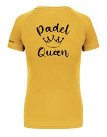 T-shirt Padel Queen geel