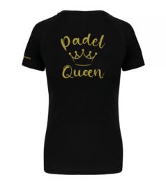 T-shirt Padel Queen zwart