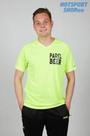 T-shirt Padel and Beer fluo geel