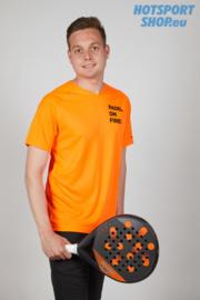 T-shirt Padel On Fire oranje fluo