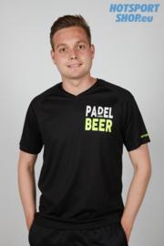 T-shirt Padel and Beer zwart