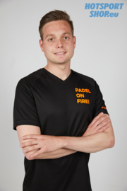 T-shirt Padel On Fire zwart