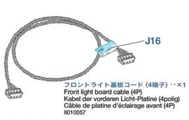 Front light board kabel (4 polig) voor deTamiya Leopard 2A6 (56020) 1:16