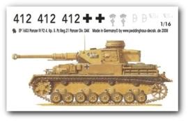 EP 1603 Panzer IV F2 4. Komp. 5 PZ.Reg. 21.Panzer Div DAK