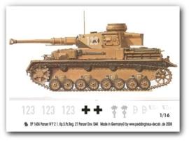 EP 1606 Panzer IV F2 5 Pz. Reg 21. Pz. Div DAK